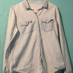 Hollister Flannel Like Button Up Shirt